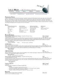 3d Resume Templates 100 Example Artist Resume Artist Resume Example Virtren Com