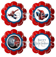 free spiderman cupcake toppers super heroes