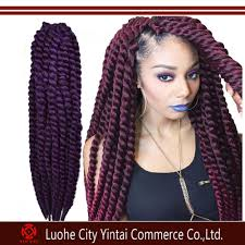 ombre crochet braids ombre color synthetic cornrows hair extensions mambo twist