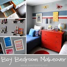 boy bedroom makeover with bold colors and patterns by