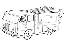coloring pages fire station coloring
