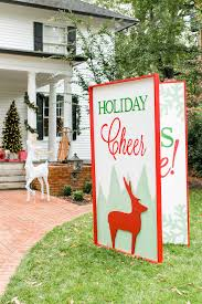 Yard Decorations Giant Greeting Card Yard Decoration For Christmas
