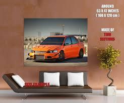 mitsubishi evo hatchback mitsubishi lancer evo 9 car wall print poster ebay