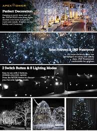 Fixing Christmas Lights String by Apexpower Christmas Solar String Lights 200 Led 72ft 8 Modes