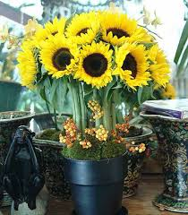 Sunflower Centerpiece Yellow Flower Centerpieces And Table Decoration Ideas