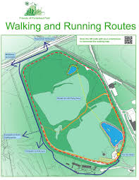 Map Running Routes by Friends Of Pontefract Park Walk Map