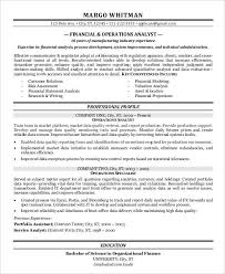 Resume For Financial Analyst Finance Resume Samples 21 Free Word Pdf Documents Download