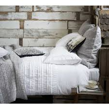 ruffle ruched white bed linen bedding and blankets pinterest