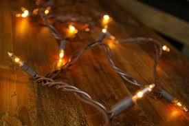 string lights 12 ft in brown wire clear