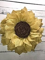 burlap sunflower wreath burlap sunflower wreath s kreations etc