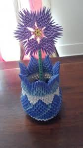 3d Origami Flower Vase Tutorial 1784 Best 3d Origami Images On Pinterest Free Pattern Paper