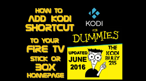 2016 how to add kodi icon on firestick fire tv home screen
