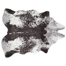 Faux Cowhide Rugs B24 Ivory And Charcoal Faux Cowhide Rug 8x10 Ft At Home At Home