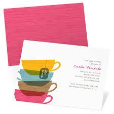 tea cups baby shower invitations pear tree
