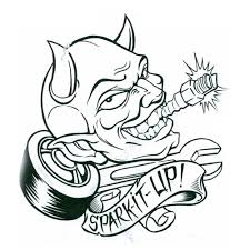 lukcy devil tattoo sample photos pictures and sketches