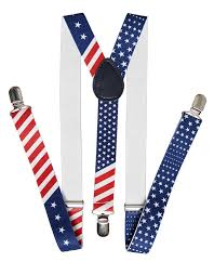 Flag Of The United States Of America United States Of America Flag Red White Blue Suspender At Amazon