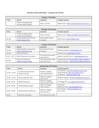 template itinerary template