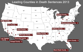 Death Penalty States Map by 2013 Sentencing Death Penalty Information Center