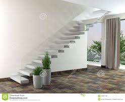 Room Stairs Design Empty Room Interior Design Illustration 40661765 Megapixl
