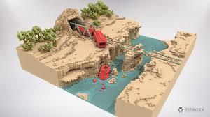Ex Machina Waterfall Ex Machina Le Blog Pixel Voxel Art U2022 I S O M E T R I C