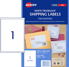 shipping labels with trueblock 959009 avery australia