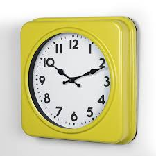 joveco yellow and white dial decorative retro vintage traditional