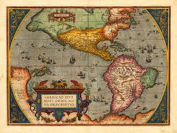 Antique World Map by Americae Sive Novi Orbis 1598 1570 Ortelius Battlemaps Us