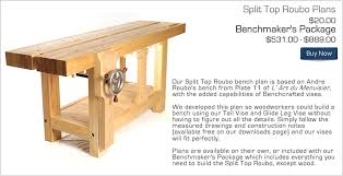 Woodworking Bench Vise Plans Benchcrafted Com Split Top Roubo