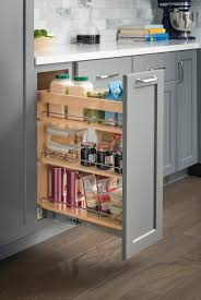 base cabinet pullout featuring dura close 100 full extension