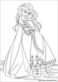 frozen coloring picture elsa u0026 anna coloring pages