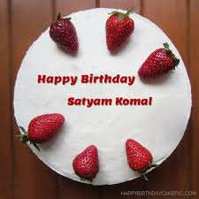 strawberries friends birthday cake for satyam komal