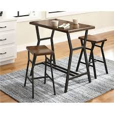dilllan contemporary 3 piece bistro set brown dining sets