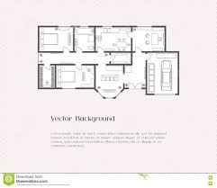 The Notebook House Floor Plan House Plan Background Stock Vector Image 79050264