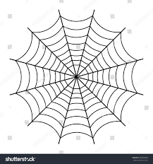 halloween background black spider web halloween spider web black outline on stock vector 580399930