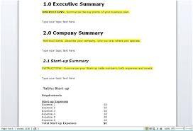 startup business plan template main splendid sample for startups