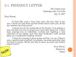 friendly letter format example friendly letter writing pack 201