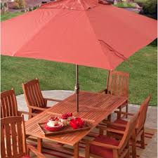 8 Ft Patio Umbrella 8 X 11 Ft Rectangle Patio Umbrella With Orange Terracotta