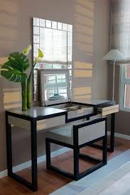 Mirrored Vanity Table Bedroom Design Magnificent White Makeup Desk Mirrored Dressing