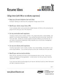 cover letter example of resume objective example of resume