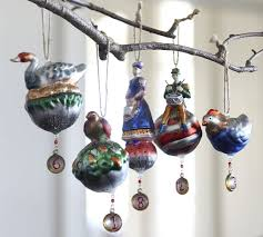 12 days of christmas ornaments twelve days of christmas ornaments set of 12 pottery barn