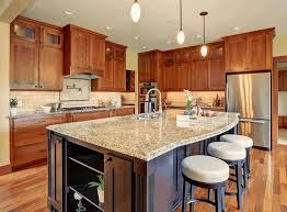 Laminate Wood Floors In Kitchen - kitchen with wood cabinets teak wood flooring creamy laminate wood