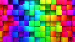 hd wallpaper rainbow color 3d blocks graphics wallpapersbyte