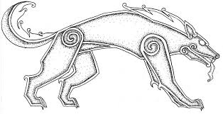 simple norse tattoo outline fenrir tattoo design by nirvanaoftime