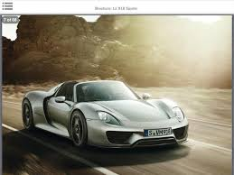 porsche 918 crash porsche 918 spyder specs and interior revealed in leaked brochure