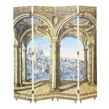 extremely rare four panel folding screen by piero fornasetti