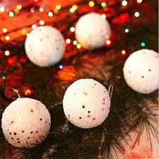 6pcs snowball 4 7cm foam balls ornaments tree