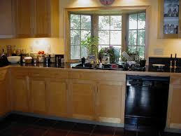 Kitchen Bay Window Curtain Ideas Picturesque Triple Glass Kitchen Window Ideas With Ceiling Cabinet