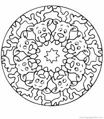 free christmas mandal coloring pages coloring