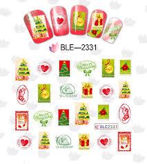 1sheet christmas xmas nail decals water transfer nail art stickers