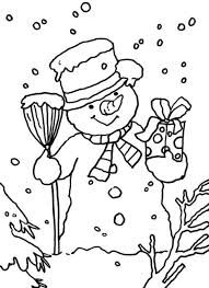 winter coloring pages printable snowman winter coloring pages of